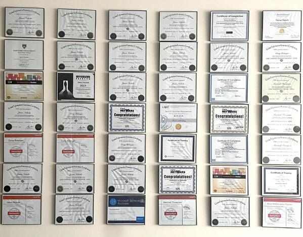 Certifications_Wall